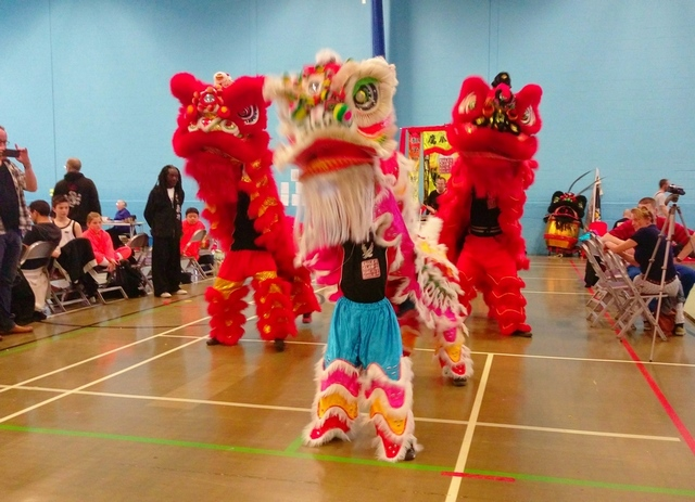 Lion dance showcase at British Open