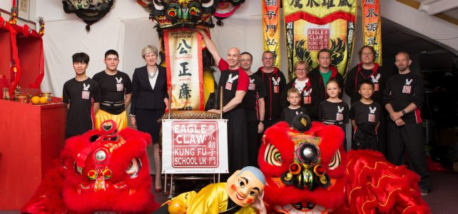 Prime Minister visits Eagle Claw Kung Fu School UK