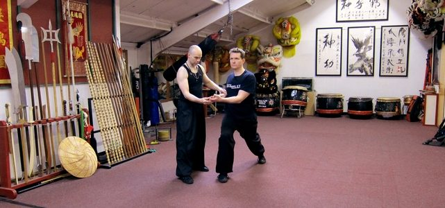 SiFu Julian Dale with student Christian Kubiak