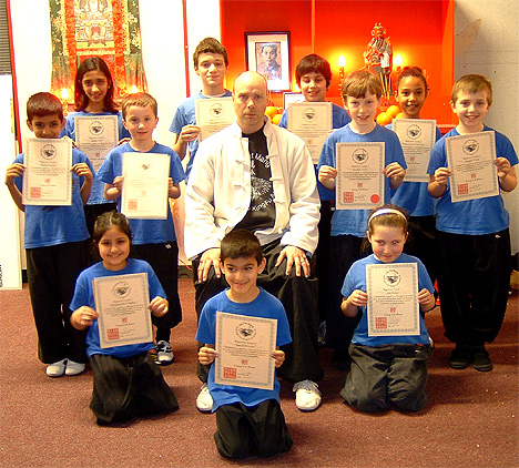 Group Grading Feb 2008 with Kids who successfully passed thier test